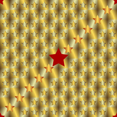 Gold and silver seamless background with stars