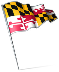 Flag pin - Maryland (USA)