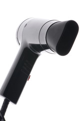Black hair drier macro