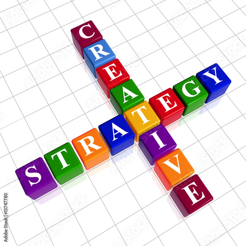 poster of color creative strategy like crossword