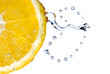 lemon with water drops