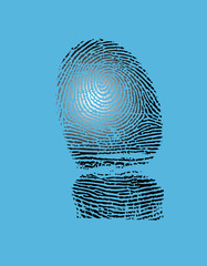 Fingerprint. Vector illustration