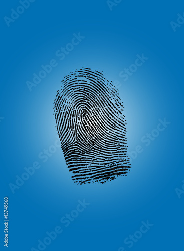 Fingerprint. Vector illustration