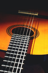 spanish style classical acoustic guitar