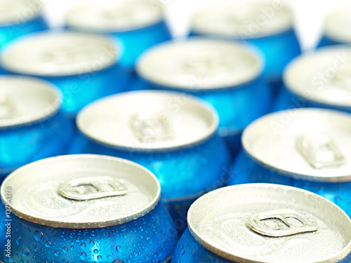 Soda or beer cans straight from the fridge