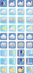 vector icons on the theme «weather»