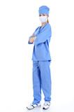 surgeon full-length in blue uniform poster