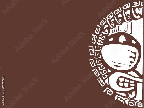 Greek Shield Face Background - 13757580