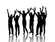tanzende junge menschen