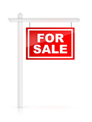 For Sale on white background