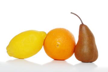 three fruits isolated