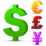 Currency vector symbols