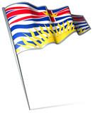 Flag pin - British Columbia (Canada) poster