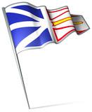 Flag pin - Newfoundland and Labrador (Canada) poster