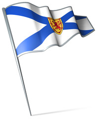 Flag pin - Nova Scotia (Canada)