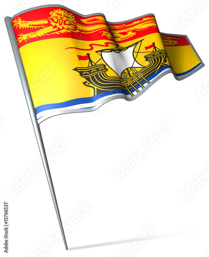 Flag pin - New Brunswick (Canada)