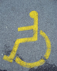 parking space for disabled persons