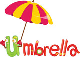 u for umbrella