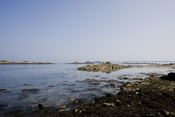 a part of coastline in roscoff, brittany