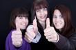 Leinwanddruck Bild - Drei Frauen
