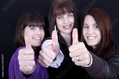 Leinwanddruck Bild Drei Frauen