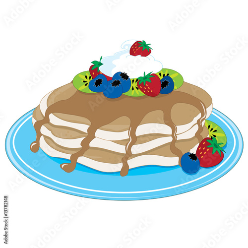 pancakes clip art. Pancakes Fruit