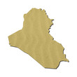 Iraq map with sand