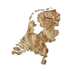 Netherlands chipboard map