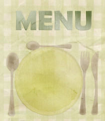 Menu and Table, Grungy Sign