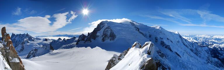 Mont Blanc von der Aiguille du Midi
