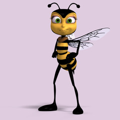 very sweet render of a honey bee in yellow and black with Clippi
