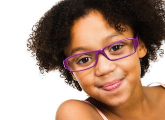 Beautiful girl wearing eyeglasses