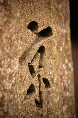 Stone craved ideogram