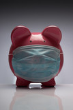 Swine flu pig with mask poster