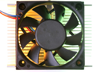 computer cooling fan and heat sink for the micro processor
