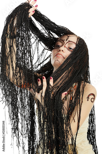 a lot of dreadlocks