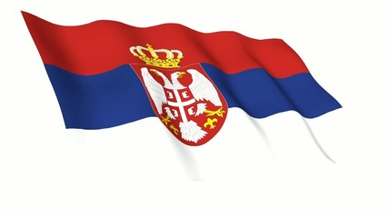 Serbia Animated Flag