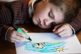 Fototapety enfant dessinant
