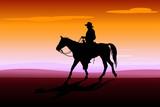 cavaliere al tramonto poster