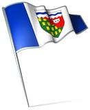 Flag pin - Northwest Territories (Canada) poster