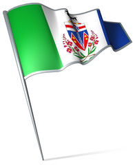 Flag pin - Yukon (Canada)