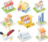 Fototapety Vector real estate icon set
