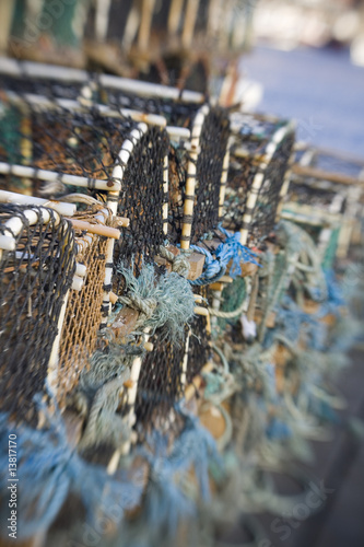 Lobster Pots shot with lensbaby