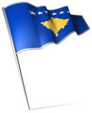 Flag pin - Kosovo poster