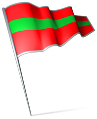 Flag pin - Transnistria