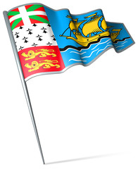Flag pin - Saint Pierre and Miquelon