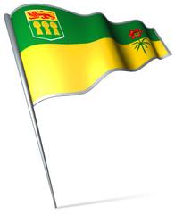 Flag pin - Saskatchewan (Canada)