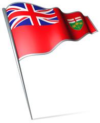 Flag pin - Ontario (Canada)