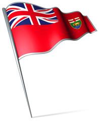 Flag pin - Manitoba (Canada)