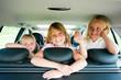 Familie im Auto verreist
